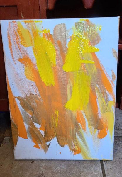Reba painting dog auction art